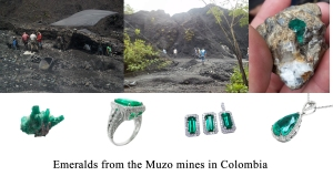 Genuine Colombian emerald jewelry