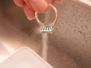cleaning your emerald rings at home