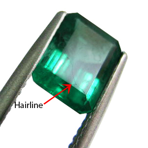 Emerald fissure filling