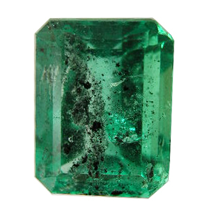 Black carbon spots in emeralds