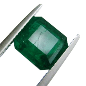 Cracked emerald