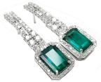 Colombian emerald earrings